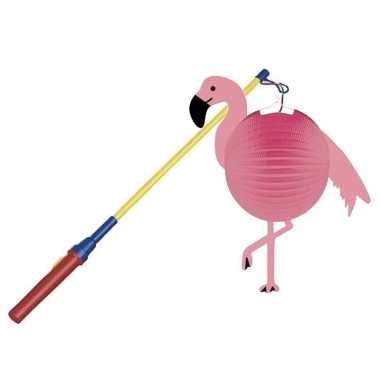 Flamingo bol lampion halloween lampionstokje
