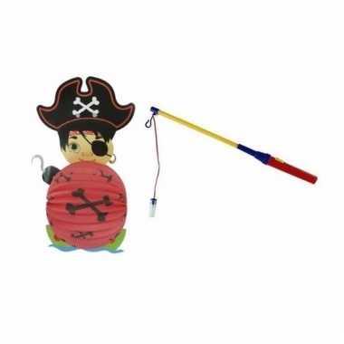 Piraat lampion halloween lampionstokje