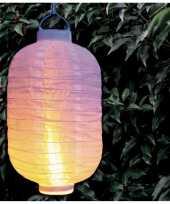 X stuks luxe solar lampion lampionnen wit halloween realistisch vlameffect bij